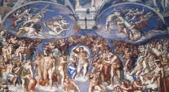 """Renaissance Maler, Malerei- Michelangelo Buonarroti Schoepfungsgeschichte Renaissance Das Gemälde """"Schoepfungsgeschichte"""" von """"Michelangelo Buonarroti"""" als hochwertige, handgemalte Ölgemälde-Replikation. Quelle: www.oel-bild.de"""