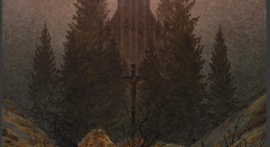 Caspar David Friedrich | Kreuz im Gebirge, um 1812, Öl auf Leinwand, 45 x 38 cm, Kunstpalast, Düsseldorf © Kunstpalast, Düsseldorf, Foto: Horst Kolberg - Artothek