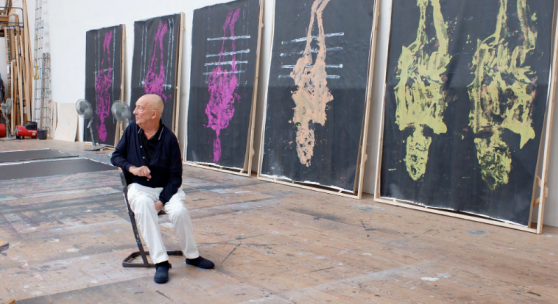 Georg Baselitz im Studio, 2021 © Elke Baselitz 2021