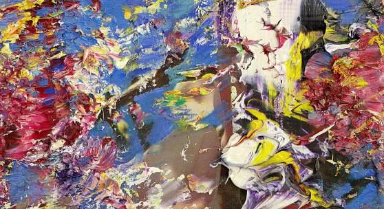 Blütezeit, 2013/18, Oel, Collage auf Leinwand, 40 x 30 cm, Ref. 4956