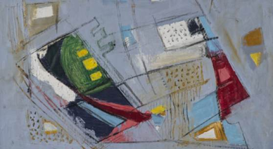 Hans Kinder Abstrakte Komposition,  1970er Jahre, Mischtechnik, 495 x 655 mm, u. r. monogrammiert Zuschlagpreis: 8.000 Euro