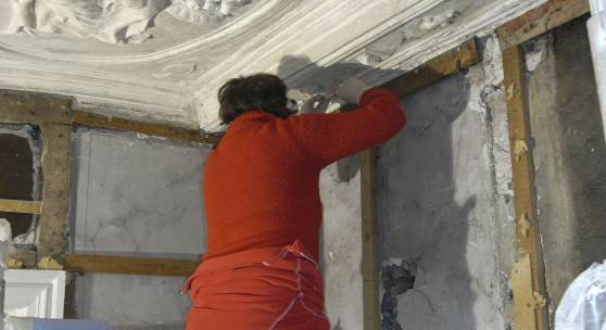 Restaurierungsarbeiten an den Jakobipastorenhäusern in Lübeck © Deutsche Stiftung Denkmalschut/Zimpel