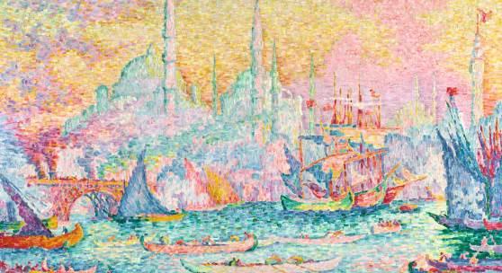 Paul Signac's Dazzling Canvas Depicting LA CORNE D'OR (CONSTANTINOPLE) Estimate $14/18 Million