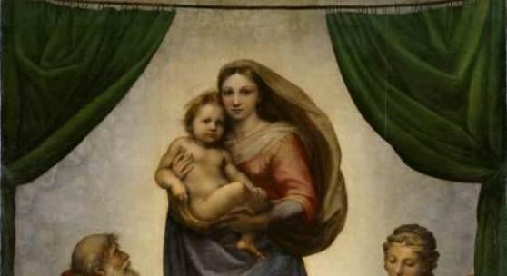 Raffael, Urbino 1483-1520 Rom, Die Sixtinsche Madonna. 1512/13