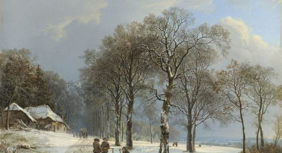 Winter mood at Amsterdam Airport Schiphol Dutch winters from the Rijksmuseum collection