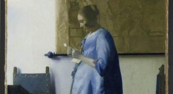 Johannes Vermeer, 'Brieflezende vrouw', ca. 1662 - 1663 (na restauratie)