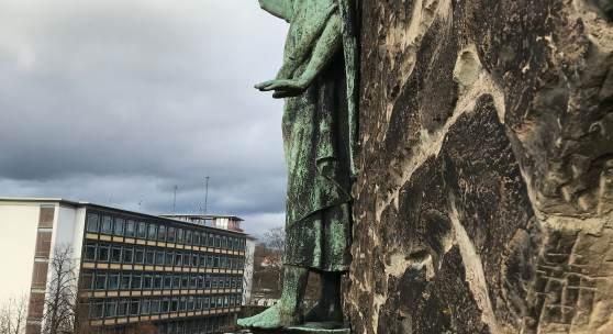Detail an St. Michael in Saarbrücken © Deutsche Stiftung Denkmalschutz/Bolz