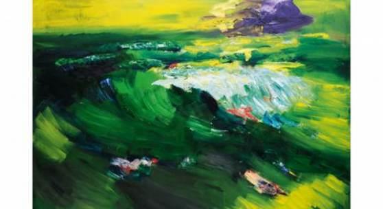Rainer Fetting, 'Nordsee', Öl/Lw., 220 x 280 cm
