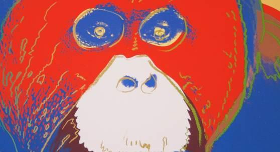 Highlights vergangener Auktionen: Warhol Andy (1928-1987) Orangutan, Erzielter Preis: 36600,- Euro