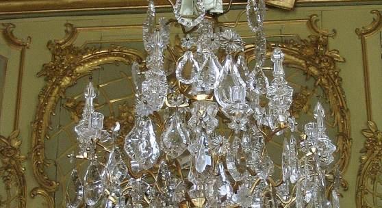 Bergkristallkronleuchter im Konzertzimmer der Königswohnung, Neues Palais © SPSG