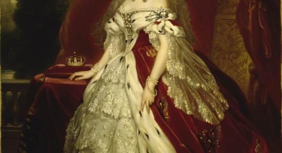 Königin Augusta von Preußen, geb. von Sachsen-Weimar-Eisenach (1811–1890) Minna Pfüller nach Winterhalter, Öl auf Leinwand, 1859, SPSG, GK I 9084