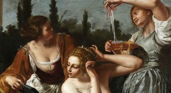 Artemisia Gentileschi: Bathseba im Bad (Ausschnitt), Öl auf Leinwand, 261 x 223 cm, SPSG