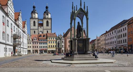 Marktplatz in Wittenberg * Foto: Roland Rossner/Deutsche Stiftung Denkmalschutz