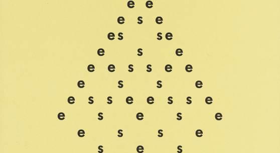 Hansjörg Mayer, aus: 13 visuelle texte, 1964 (Franz Mon), Staatsgalerie Stuttgart, Archiv Sohm, © Hanjörg Mayer