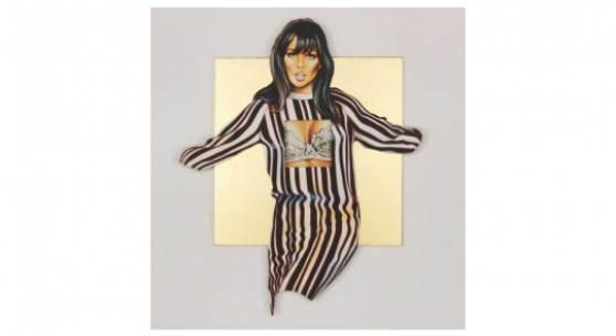 Mel Ramos Golden Maidenform Molly. Navel Orange Zwei Blatt Farblithografien, 2013/2014 34 x 28 cm / 13,3 x 11 inches Startpreis: € 1.440