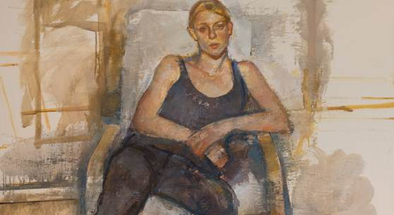 Steven Black, 2016.17 2016, Öl auf Leinwand, 100 x 90 cm