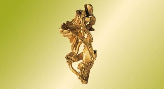 """Sujet """"Gold, Gold, nur du allein..."""", Gold, Katharinenburg, Ural, Russland, Sammlung Mineralogie, Universalmuseum Joanneum, Foto: Universalmuseum Joanneum/N. Lackner"""