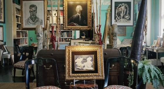 Works by Pablo Picasso, Lucian Freud, Georges Braque, and more pictured in Richardson's famed Fifth Avenue loft. Photograph by François Halard.