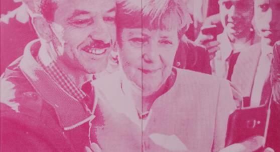 SUSI POP Selfies, 2021 22 Siebdrucke auf Leinwand, je 150 x 90 cm Courtesy: Susi Pop und Galerie Zwinger, Berlin