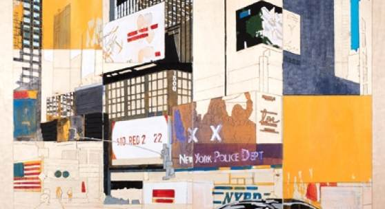 Detlef Waschkau New York City Pigment auf Pappelholz   Foto: Nikolaus Netzer, © VG BildKunst Bonn, 2018