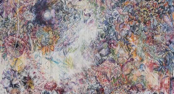 Karin Pliem, Symbiotic Unions I, 2016, Öl auf Leinwand   oil on canvas, 200 x 250 cm