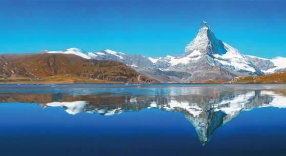 Helmut Ditsch (geb. 1962 Buenos Aires (Argentinien) Also sprach Zarathustra – Matterhorn Öl auf Leinwand signiert, verso bezeichnet und datiert 2015 86 x 200 cm Zur Verfügung gestellt von: Galerie Szaal