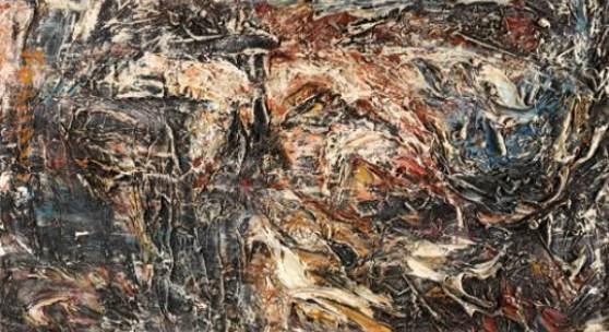 "Soshana (geb. 1927 Wien) ""Night in the Woods"" Öl auf Leinwand signiert, 1959, 62 x 102 cm"