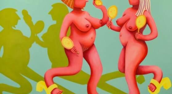 Tamara Malcher | Reflection | 2020Acrylic and pastel crayon on canvas | 200 x 250 cm