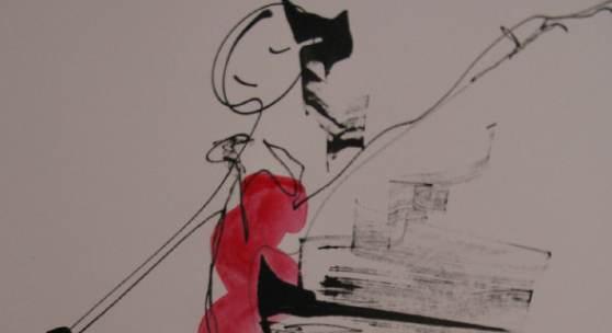 Silvia Ehrenreich, Tanz, Tusche auf Papier
