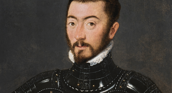Attributed to Gillis Claeissens, Portrait of a Man in Armour , circa 1560