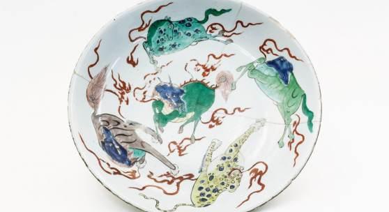 teller qing zeit shunzhi periode mitte 17. jh.  © Museum Angewandte Kunst