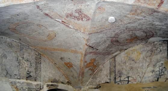 Malereien in der Hauskapelle des Ritterguts Oberzetzscha in Altenburg © Arnulf Daehne