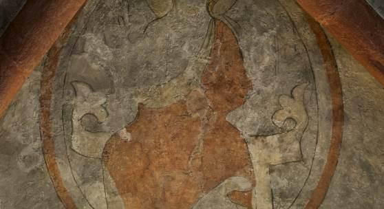 St. Nikolai in Unterwellenborn, Malereien aus dem 14. Jahrhundert © Deutsche Stiftung Denkmalschutz