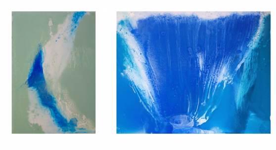 """Thomas Rucker - """"Struktur der Wellen und Wasserfälle"""" in der Galerie Sandpeck Wien 8"""