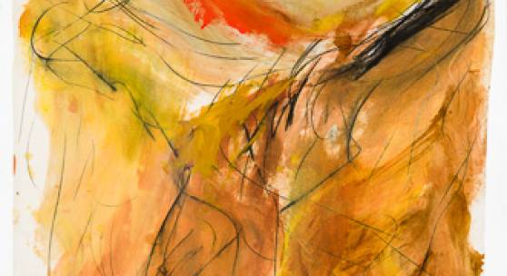 Wolfgang Hollegha, Öl und Graphit, 124 x 103 cm, 1964, Rufpreis € 5.500