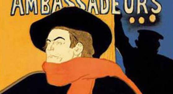 Henri de Toulouse-Lautrec: Ambassadeurs – Aristide Bruant, 1892, Musée d'Ixelles, Brüssel © Musée d'Ixelles, Brüssel / Institut für Kulturaustausch