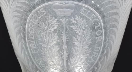 Vivatglas auf Kurfürst Friedrich III., 1688-1700, Detail, Potsdam Museum – Forum für Kunst und Geschichte. © Potsdam Museum – Forum für Kunst und Geschichte