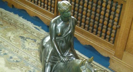 Louis Tuaillon (1862–1919): Amazone, Bronze, Höhe: 77 cm, um 1903. Foto: SPSG