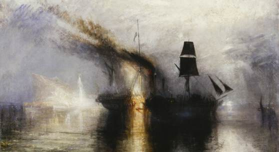 Joseph Mallord William Turner, Peace – Burial at Sea, ca. 1842 Öl auf Leinwand, 111 x 110.8 cm, © Tate, London, 2019