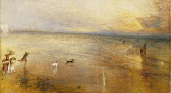"""William Turner The New Moon; or, """"I've lost My Boat, You shan't have Your Hoop"""", vor 1840 The Tate Gallery, London, Digital Image © Tate, London 2010"""