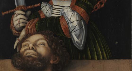 Lucas Cranach der Ältere, Judith mit dem Kopf des Holofernes, um 1530, Malerei auf Holz, 61,9 × 89,5 cm, The Metropolitan Museum of Art, Rogers Fund, 1911 / Foto: bpk | The Metropolitan Museum of Art