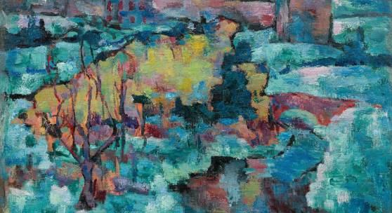 135. Auktion, Lot 9 Josef Floch* (1894 - 1977) Wiener Ansicht im Winter, 1921 Öl auf Leinwand 60 x 80 cm Schätzpreis: 35 000 - 70 000 €