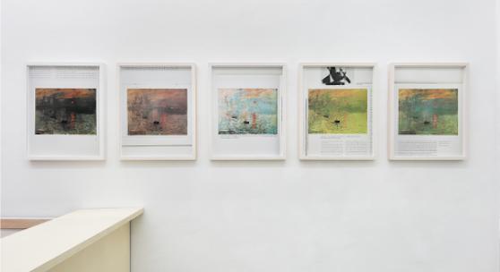 Ulrike Königshofer, Picturing Pictures (Monet: Impression soleil levant), 2018, 5 C-Prints, je 50 x 40 cm