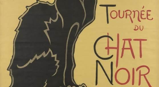 Théophile Alexandre Steinlen, Poster for the tour of Le Chat Noir, 1896
