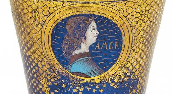 Renaissance Pokal Venedig | Wohl um 1500 Blaues Glas | H. 15,5 cm Ergebnis: 140.800€