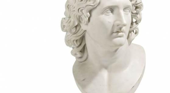 Alexander der Große Marmor Italien 1. Hälfte 19.Jh. Taxe: 4.500 – 6.000 Euro