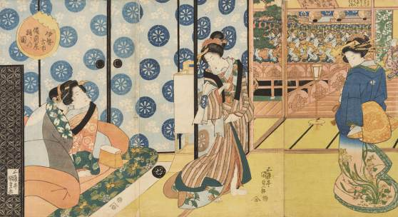 Japanische Holzschnitt