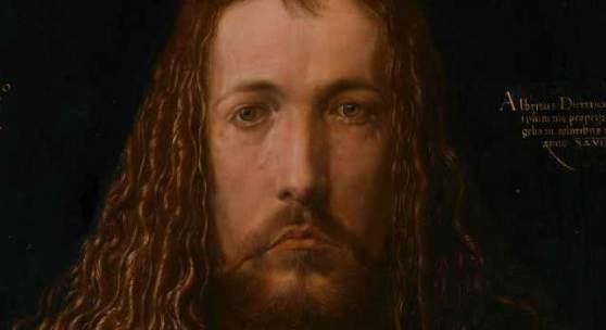 Albrecht Dürer, Selbstbildnis im Pelzrock (Detail, bearbeitet), 1500, © Alte Pinakothek