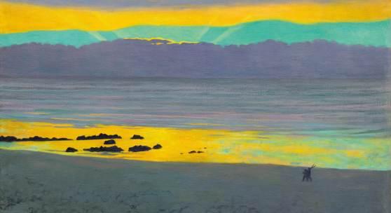 3029 FELIX VALLOTTON Coucher de soleil jaune et vert. Öl auf Leinwand. 54 x 81 cm. Ergebnis: CHF 883 000