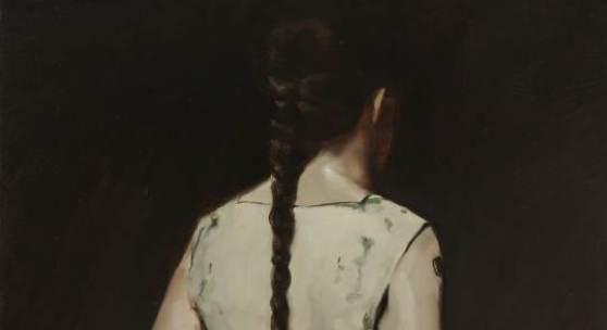 """Bildlegende: Michaël Borremans, """"Automat"""" (I), 2008, Oil on canvas, 80 x 60 cm, Foto: Peter Cox"""